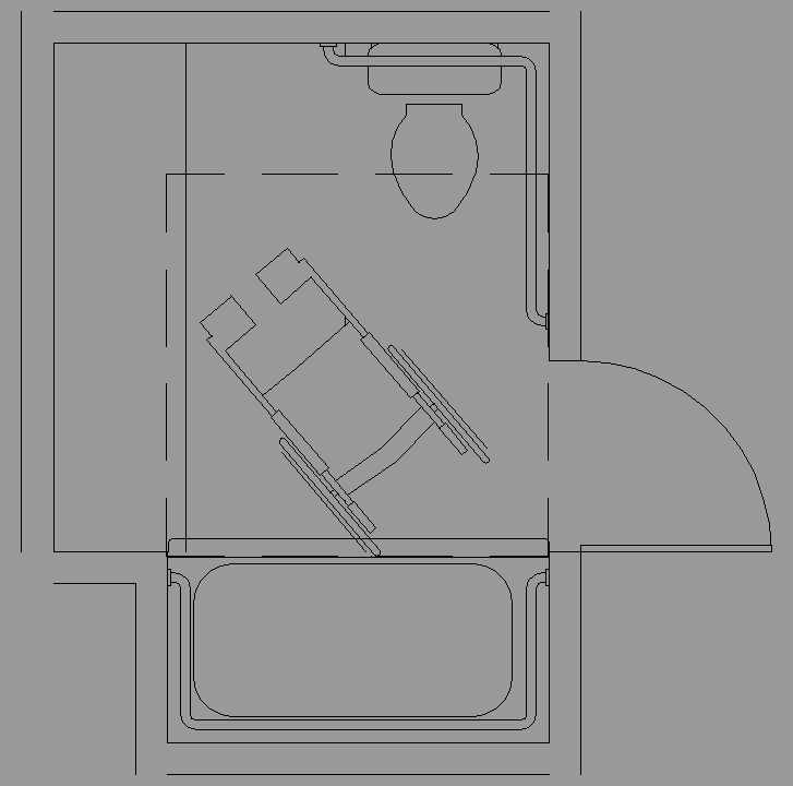 Tamano Baño Minusvalidos:Bloque Autocad Dimensiones recomendables para cuartos de baño