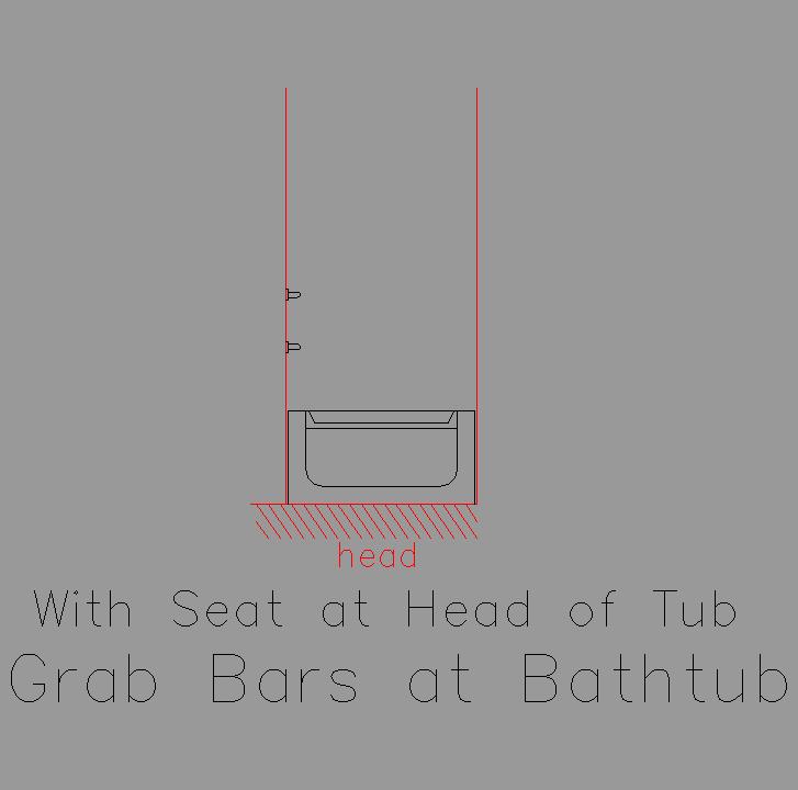 Bloque Baño Adaptado:Bloque Autocad Vista en sección de bañera adaptada