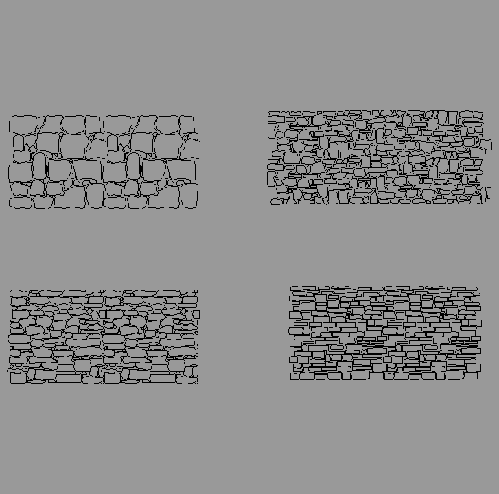 Cad projects biblioteca bloques autocad arquitectura y - Tipos de muros de piedra ...