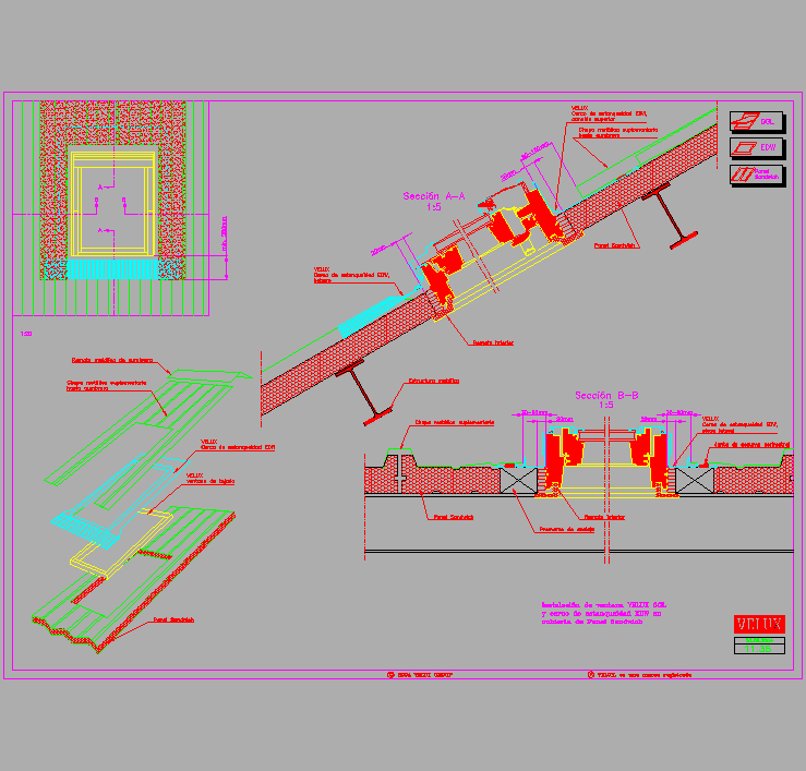 Cad Drawing Roof Sandwich Panels : Cad projects biblioteca bloques autocad arquitectura y