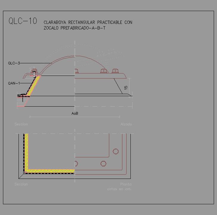 Cad projects especificaciones norma nte qlc cubiertas - Lucernarios y claraboyas ...