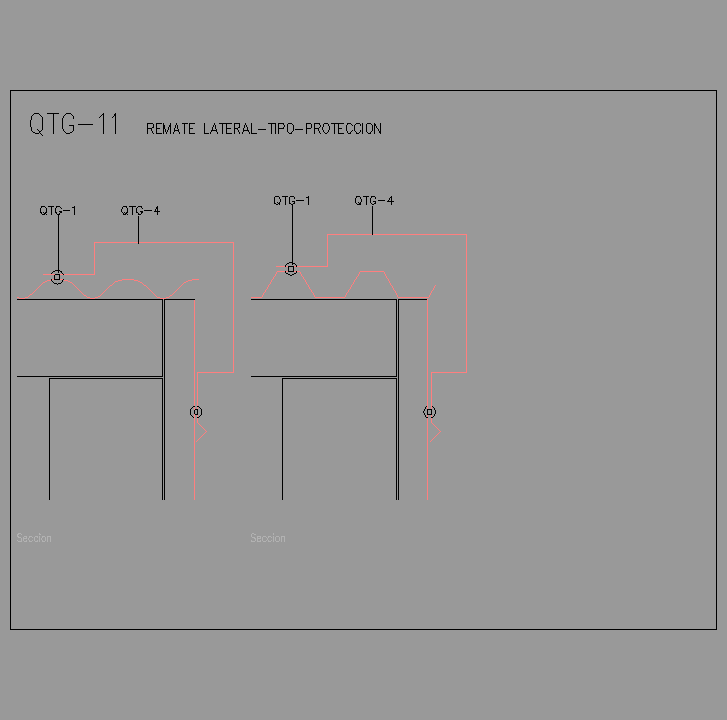 Bloque Autocad Remate lateral