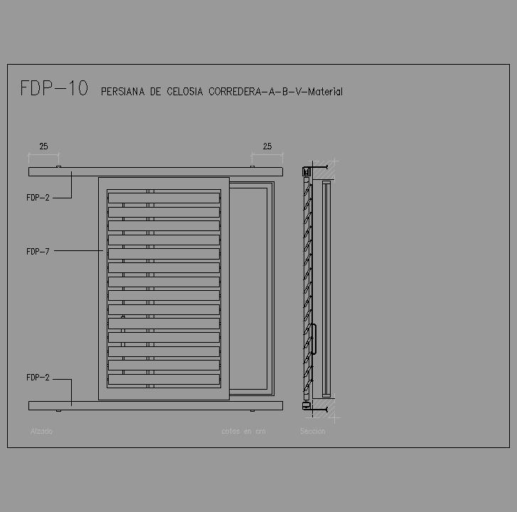 Cad projects especificaciones norma nte fdp fachadas - Portal de corredera ...