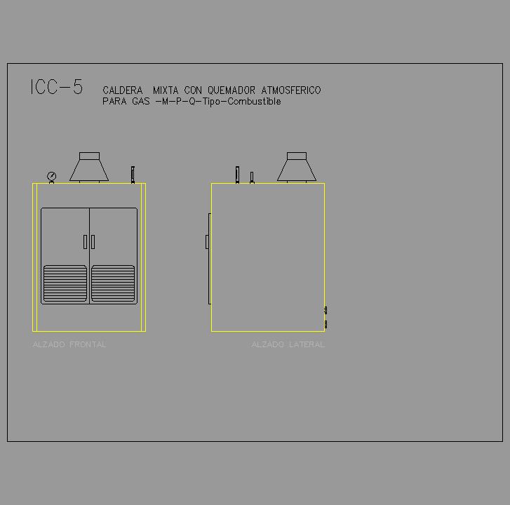 Cad projects biblioteca bloques autocad icc 05 - Caldera mixta gas ...