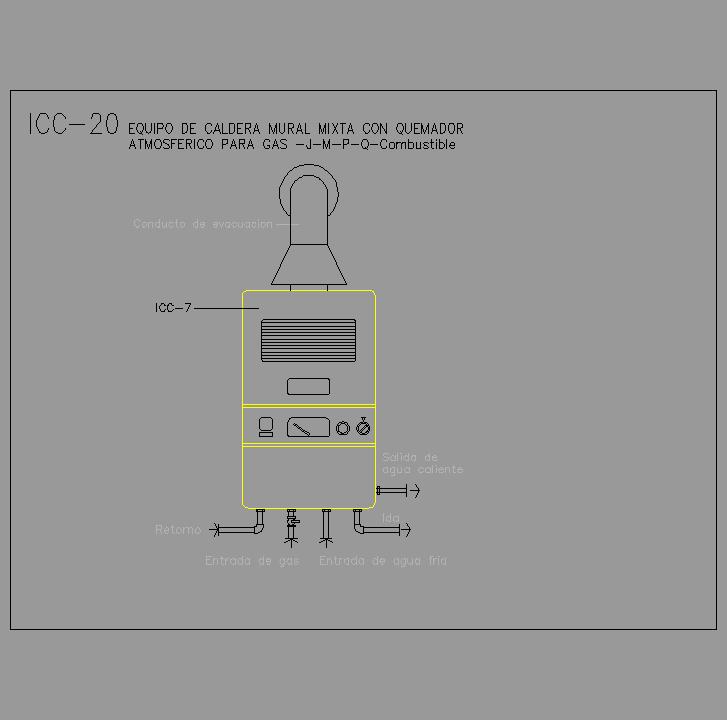 Cad projects especificaciones norma nte icc for Caldera mural mixta
