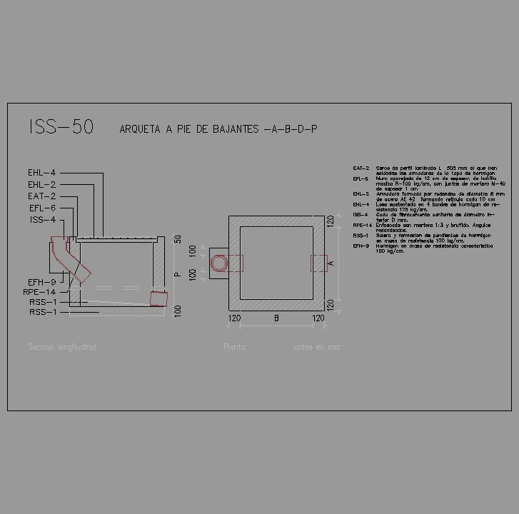Cad projects especificaciones norma nte iss - Arquetas prefabricadas pvc ...
