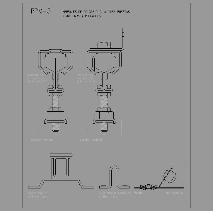Cad projects especificaciones norma nte ppm - Puertas correderas y plegables ...