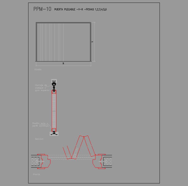 Cad projects especificaciones norma nte ppm - Puerta corredera plegable ...