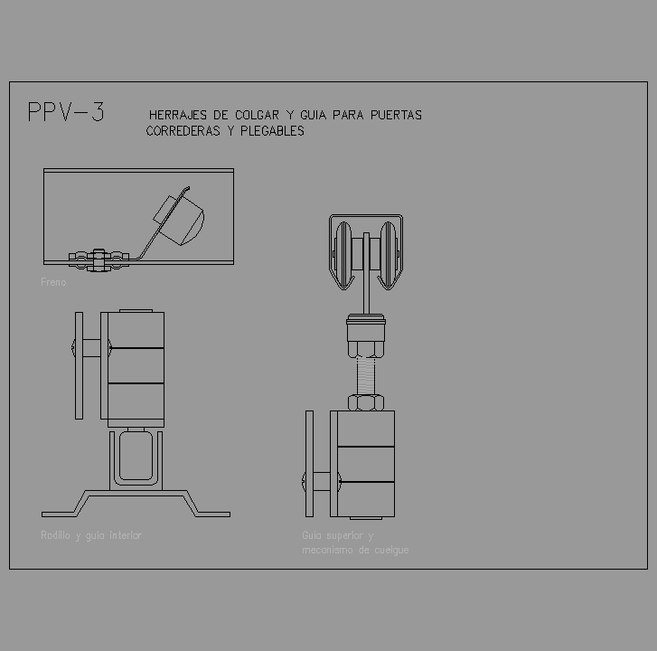 Cad projects especificaciones norma nte ppv - Puertas correderas y plegables ...