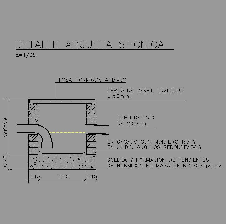 Cad projects biblioteca bloques autocad - Arquetas prefabricadas pvc ...