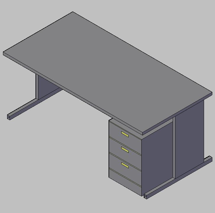 Mobiliario De Escritorio Dwg.Cad Projects Biblioteca Bloques Autocad Arquitectura Y