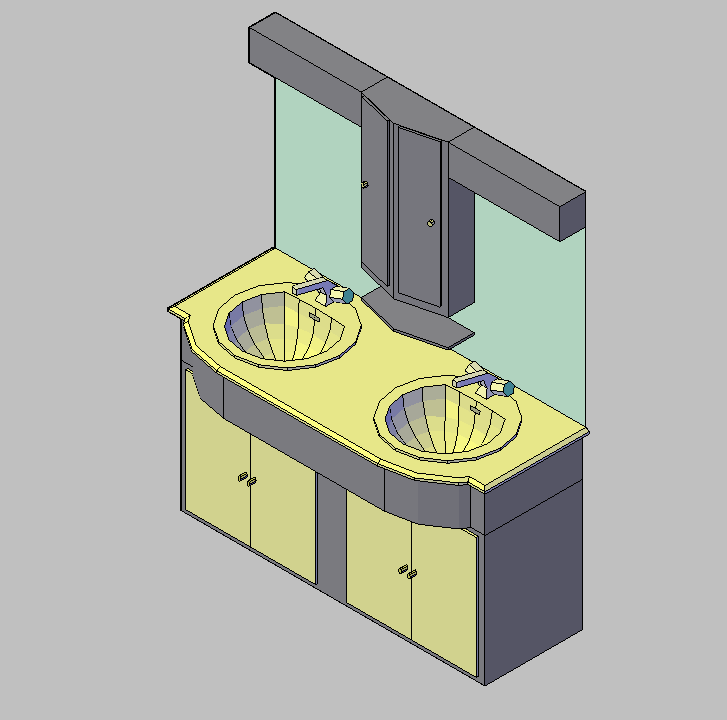 Mueble Baño Sobre Inodoro: CONSTRUCCION – DISEÑO INTERIOR – BAÑO – MUEBLE-ESPEJO – 3D