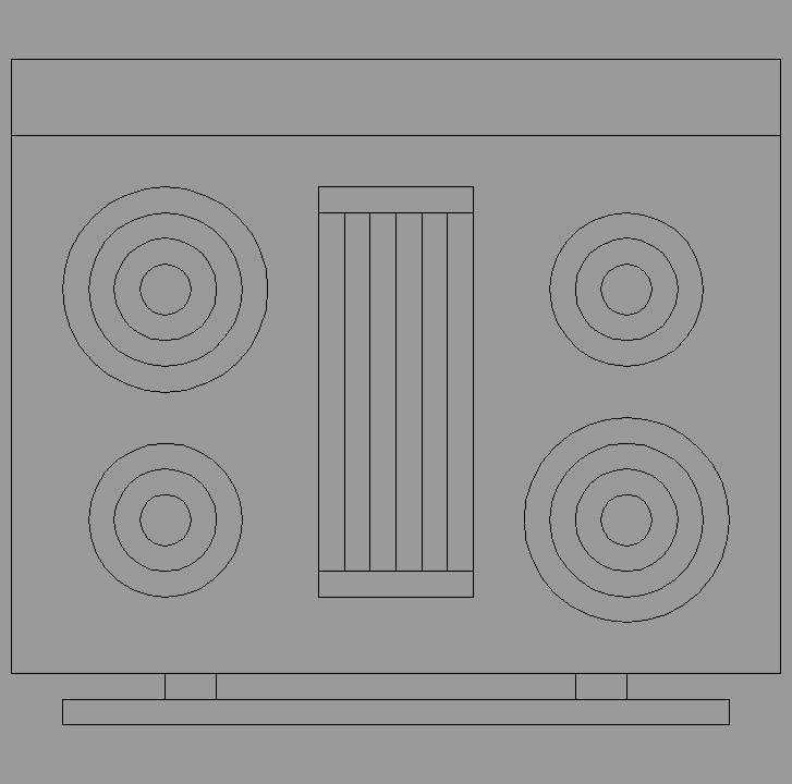 Cad projects biblioteca bloques autocad cocina vista for Bloques autocad cocina