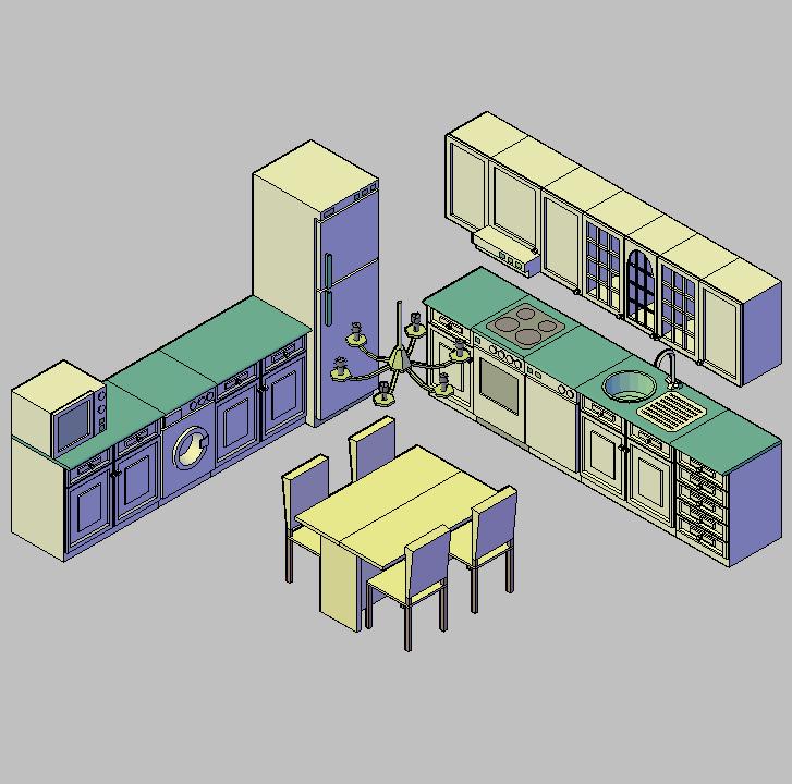 Cad projects biblioteca bloques autocad arquitectura y for Planos de cocinas autocad