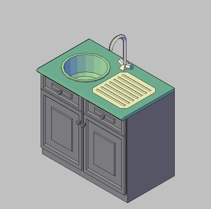 Cad projects biblioteca bloques autocad fregadero 1 for Bloques autocad cocina