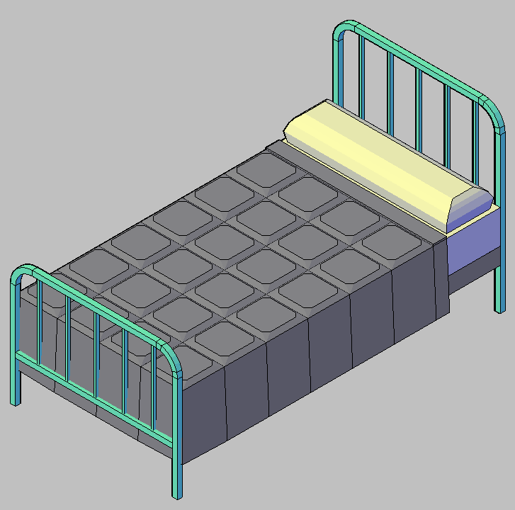 Cad projects biblioteca bloques autocad arquitectura y for Cama 3d autocad