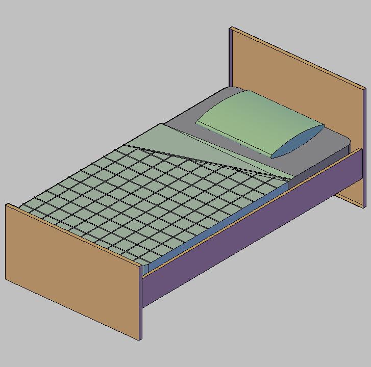 Cad projects biblioteca bloques autocad arquitectura y for Cama 3 4 medidas