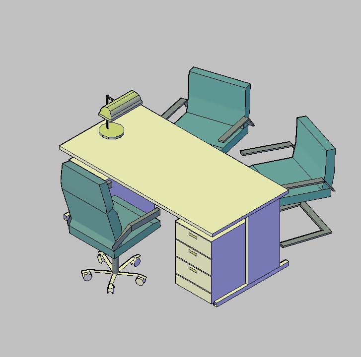 Cad projects biblioteca bloques autocad arquitectura y for Muebles de oficina 3d model