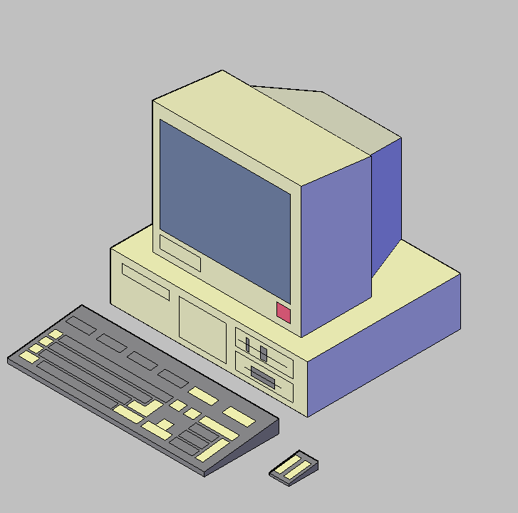 Cad projects biblioteca bloques autocad ordenador for Ordenadores para oficina